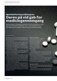 Døren på vid gab for medicingennemgang - Pharmadanmark