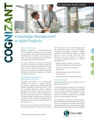 Knowledge Management in Agile Projects - Cognizant