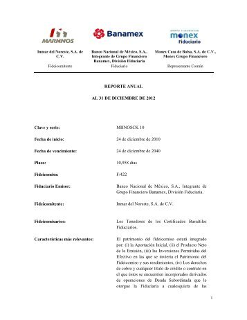 Reporte Anual CKD - Marhnos