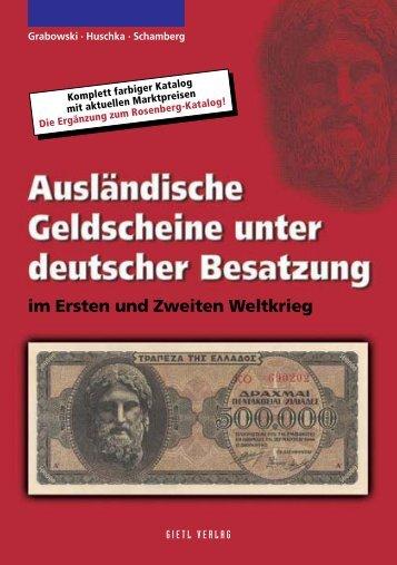 Ausländische Geldscheine unter Deutscher Besatzung - Gietl Verlag