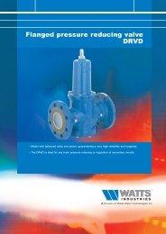 Flanged pressure reducing valve DRVD - Watts Industries