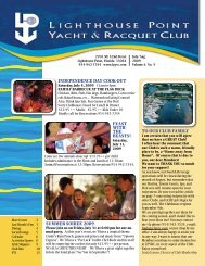 July/August 2009 - Lighthouse Point Yacht and Racquet Club