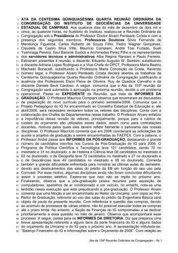 154ª Reunião Ordinária, realizada em 14/12/2005