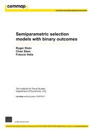 Semiparametric selection models with binary outcomes - Cemmap