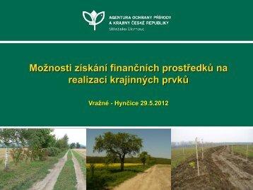Možnosti získání finančních prostředků na realizaci krajinných prvků