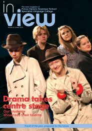 Drama takes centre stage - Prince Henrys Grammar School
