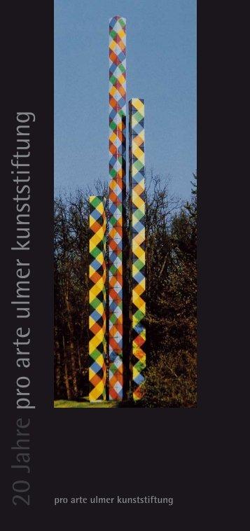 Sculptura Ulm ´96 - pro arte ulmer kunststiftung