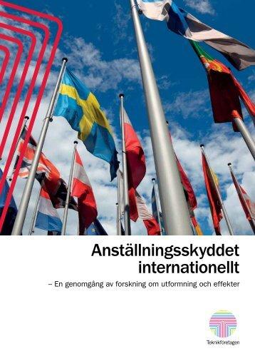 Anställningsskyddet internationellt - Teknikföretagen