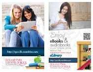 E library brochure - Roland Park Country School