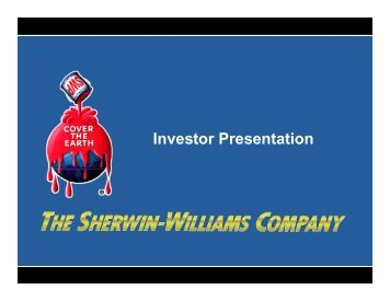 +1% - Sherwin Williams