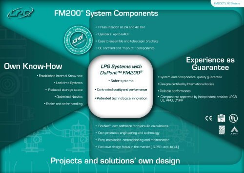 Projects and solutions' own design Own Know-How