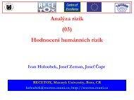 Hodnocení humánních rizik - Centrum pro výzkum toxických látek v ...
