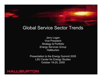 Global Service Sector Trends - LSU Center for Energy Studies