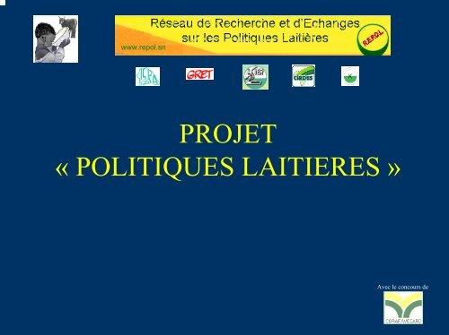 Présentation du projet politique laitière - REPOL