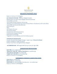 DELEGATE PACKAGES 2012 - Portmarnock Hotel and Golf Links