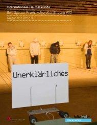 Bericht Internationale Heimatkunde   pdf - Kultur Vor Ort e.V.