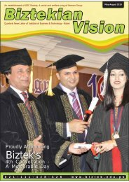 Biztekian Vision Issue #2 - Institute of Business & Technology