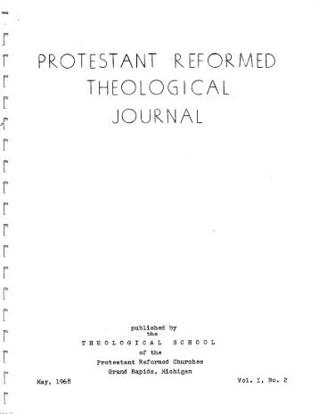 May 1968 (pdf) - Protestant Reformed Churches in America
