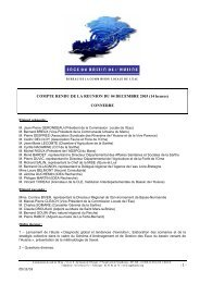 COMPTE RENDU DE LA REUNION DU 04 DECEMBRE 2003 (14 ...