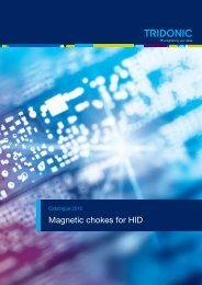 Magnetic chokes for HID - Tridonic