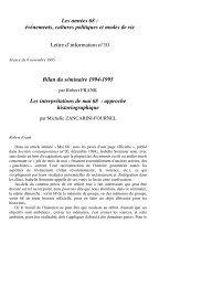 Robert Frank ; Les interprétations de mai 68 - irice