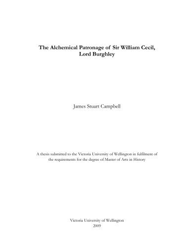 The Alchemical Patronage of Sir William Cecil, Lord Burghley