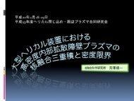 平成20年2月 28-29日 ロ ` 平成ー9年度へ リ カル閉 じ込め ・ 周辺フ ラズマ ...