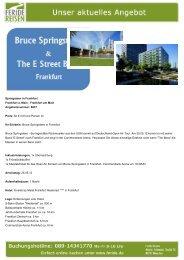 Springsteen in Frankfurt - Eventreisen - Trierischer Volksfreund
