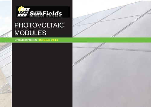 Photovoltaic Solar Modules Offer October_2010