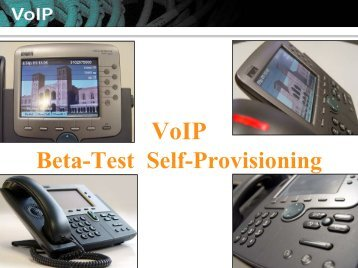 VoIP Self-Provisioning Guide
