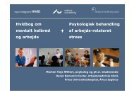 Psykologisk behandling af arbejdsrelateret stress