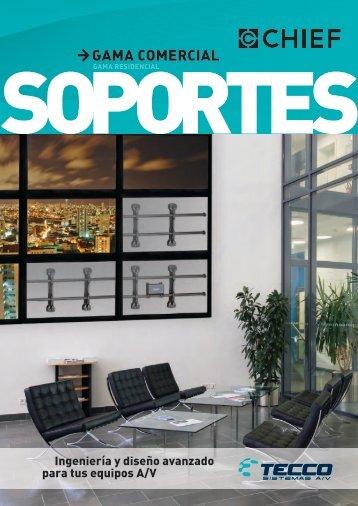 Catálogo de Soportes más usuales para Comercial - Tecco