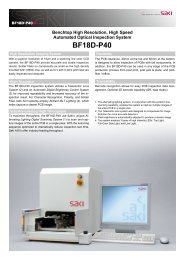 SAKI AOI System Model BF-18D-P40 PDF Brochure - HDI Solutions