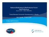 National BioEnergy & BioProducts Forum ... - LifeSciences BC