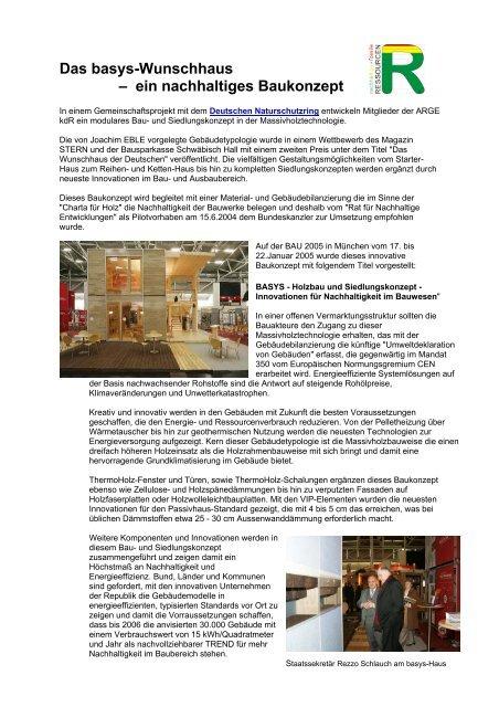 Das basys-Wunschhaus – ein nachhaltiges Baukonzept