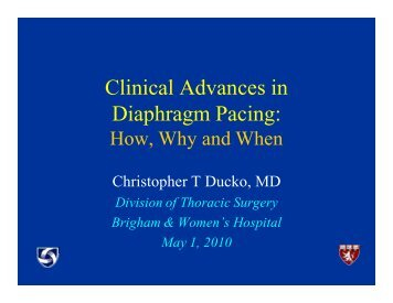 Clinical Advances in Diaphragm Pacing: