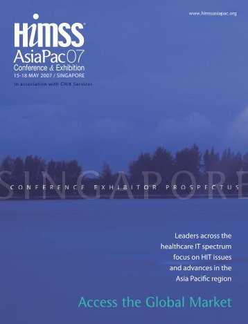 Download Exhibitor Prospectus - HIMSS AsiaPac