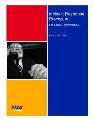Incident Response Procedure v1.2 2003 - Visa Asia Pacific