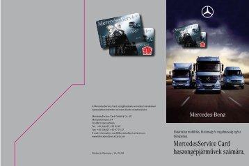 Magyar nyelvű információs anyag letöltése (PDF) - Mercedes-Benz ...