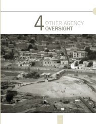 Section 4: Other Agency Oversight - Special Inspector General for ...