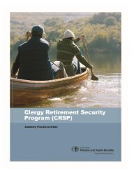 Clergy Retirement Security Program - General Board of Pension and ...