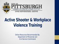 Active Shooter & Workplace Violence Training - City of Pittsburgh