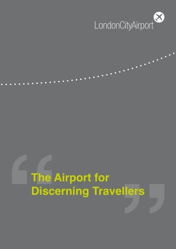 The Airport for Discerning Travellers - London City Airport