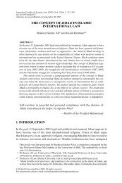 THE CONCEPT OF JIHAD IN ISLAMIC INTERNATIONAL LAW