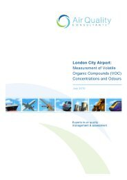 London City Airport: Measurement of Volatile Organic Compounds ...