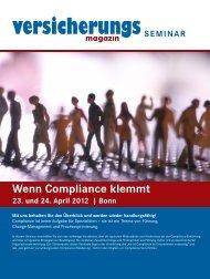 Wenn Compliance klemmt 23. und 24. april 2012 | Bonn - Springer