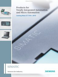 Products for Totally Integrated Automation and Micro ... - Siemens