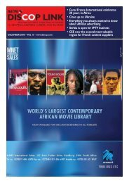• Canal France International celebrates 20 years in Africa ... - Discop