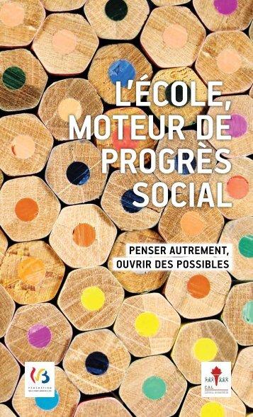 L'Ecole, moteur de progrès social - Centre d'Action Laïque