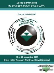 Plan de visibilité 2007 - SCAV-CSVA